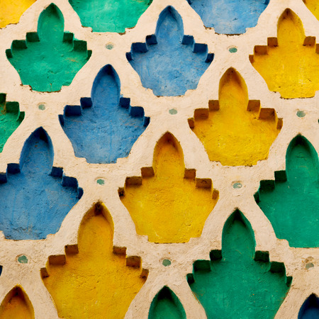 carpet texture: line in morocco africa old tile and colorated floor ceramic abstract Stock Photo