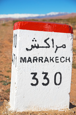 miles: stone miles in africa morocco Stock Photo