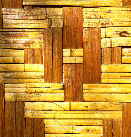 hollow walls: thailand abstract cross bamboo in the temple kho phangan bay asia and south china sea Stock Photo