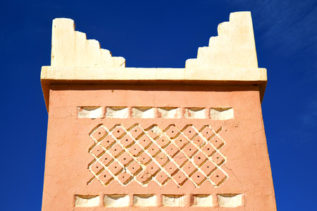 maroc: in morocco africa            minaret  and the blue  sky