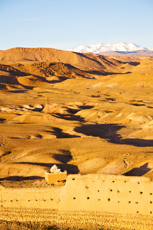 islamic scenery: hill africa in morocco the old contruction       and   historical village