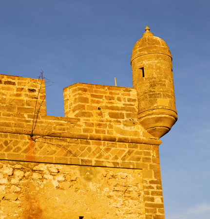 casbah: brick in old construction  africa morocco and   the tower near sky