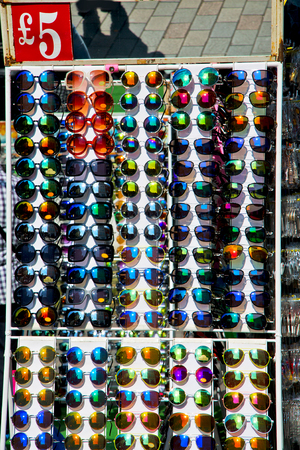 reflex: in london glass and sunglasses in the light and reflex Stock Photo
