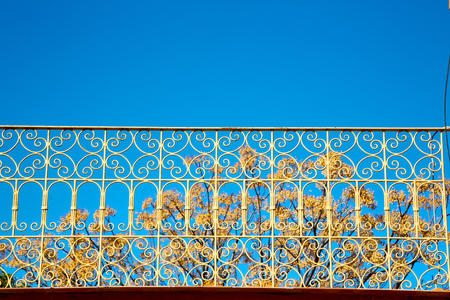 metal pattern: abstract terrace in morocco africa and   the sky