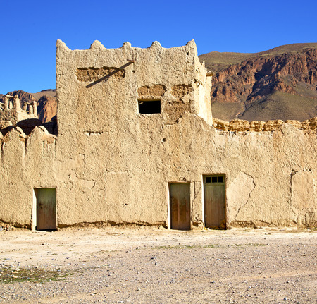 casbah: hill africa in morocco the old contruction       and   historical village