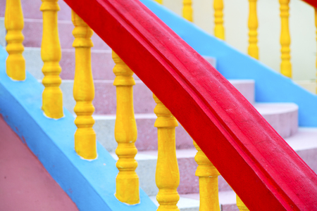 krung: bangkok in thailand incision of stairs and spep     temple