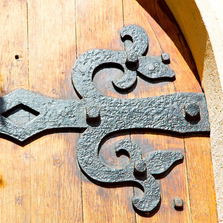 hinged: old london door in england and wood ancien abstract hinged