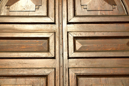 rusty nail: abstract  house door    in italy   lombardy   column  the milano old        closed nail rusty