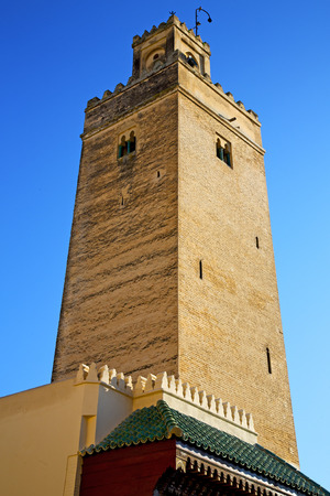 maroc: in maroc africa        minaret  and the blue  sky