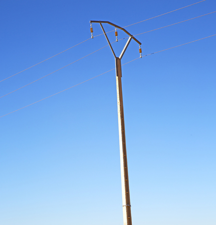 utility pole: utility pole in africa morocco energy and distribution pylon