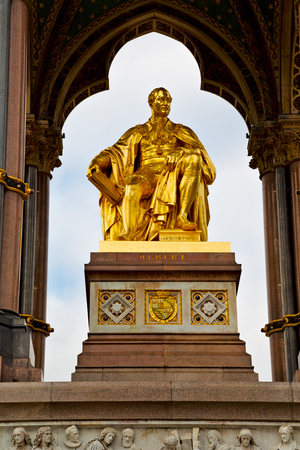albert: albert monument in london england kingdome and old construction Stock Photo