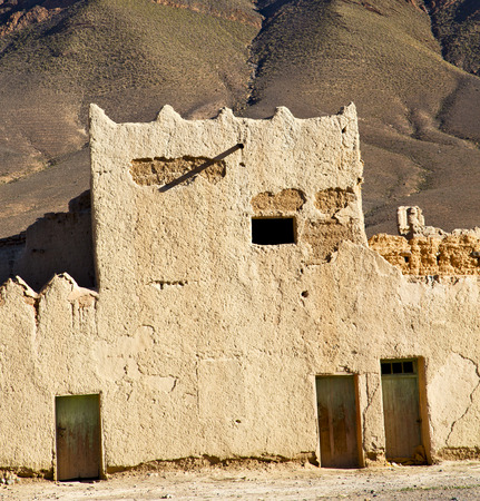 heritage protection: hill africa in morocco the old contruction       and   historical village