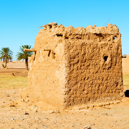 islamic scenery: sahara africa in morocco the old   contruction and  historical village Stock Photo