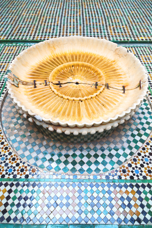 casbah: fountain in morocco africa old antique construction  mousque palace