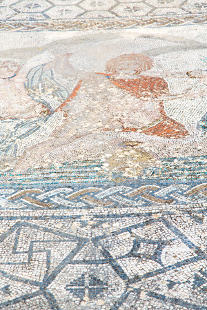 volubilis: roof mosaic in the old city morocco africa and history travel