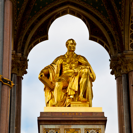 albert: albert monument in london england kingdome and old construction Editorial