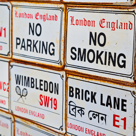 no way out: signal street in london england europe     old    transport  icon