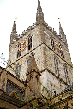 southwark: southwark cathedral in london england old construction  and religion Stock Photo