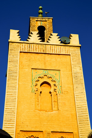minaret: in maroc africa      minaret  and the blue     sky Stock Photo