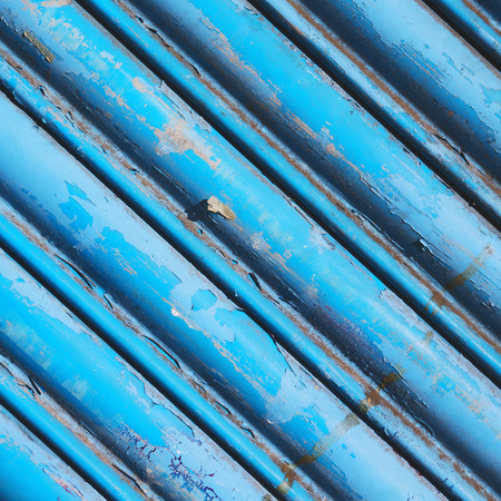 abstract london: blue abstract metal in englan london railing steel and background Stock Photo