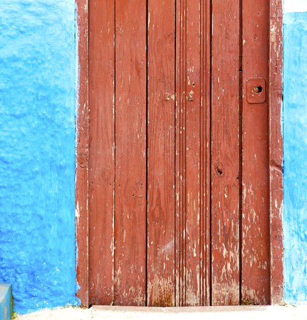 vintage door: historical in     antique building door morocco      style africa   wood and metal rusty