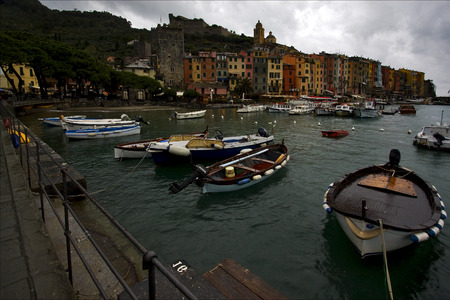 boat house: water  boat  house and coastline in porto venere italy