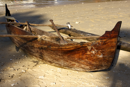 be: nosy be  madagascar boat oar   and coastline