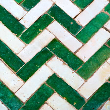 berber: line in morocco africa old tile and colorated floor ceramic abstract Stock Photo