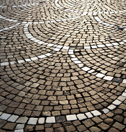 curch: in the castano primo  street lombardy italy  varese abstract   pavement of a curch and marble