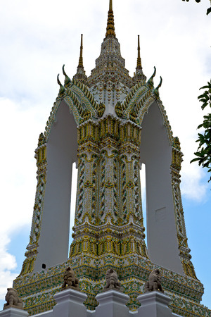 thailand asia   in  bangkok rain  temple abstract cross colors  roof wat  palaces     sky      and  colors religion      mosaic �ditoriale