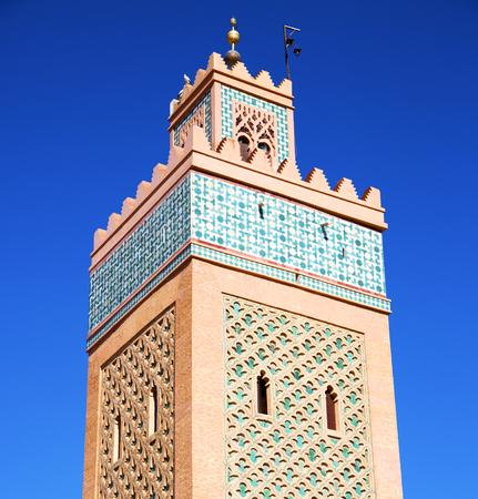 maroc: in maroc africa   minaret and the blue  sky
