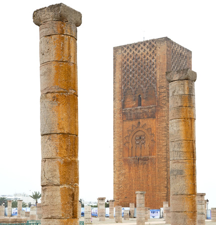 dorian: chellah    in morocco africa the old roman deteriorated monument and site Editorial
