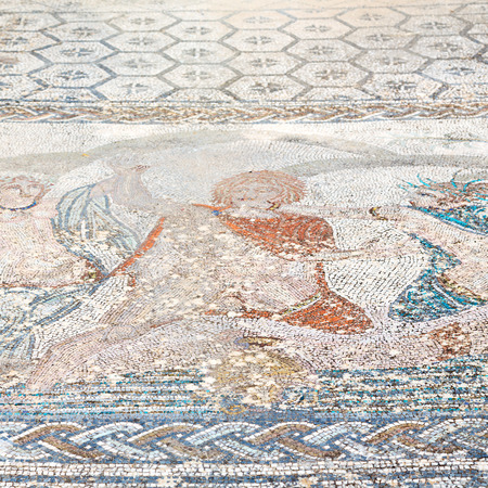islamic art: roof mosaic in the old city morocco africa and history travel