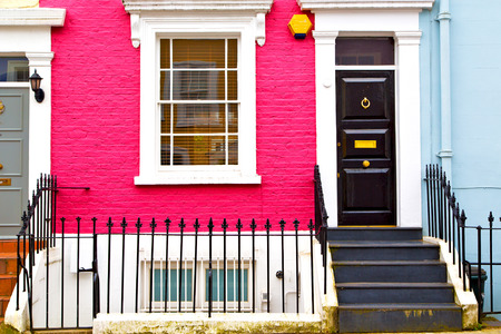 notting: notting hill in london england old suburban and antique      wall door Stock Photo