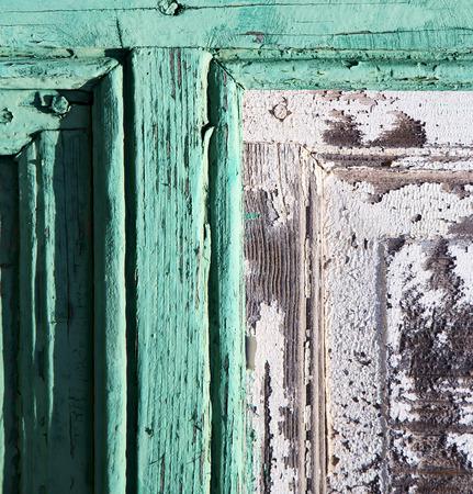 canarias: spain canarias brass brown knocker in a green closed wood  door  lanzarote abstract