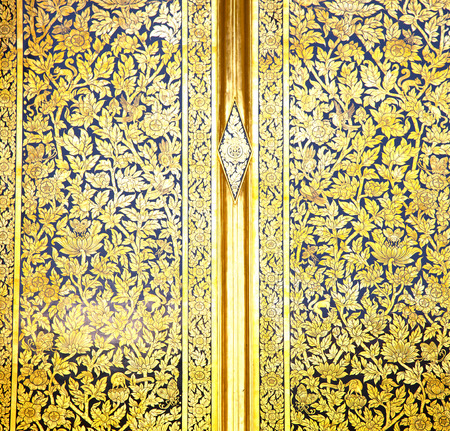 bangkok temple: thailand       and  asia   in  bangkok     temple abstract cross colors door wat  palaces   colors religion      gate