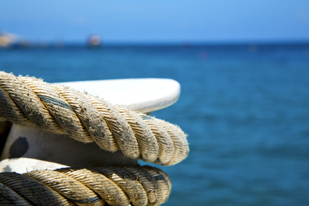 ship anchor: asia in the  kho tao bay isle white  ship   rope  and south china sea  anchor