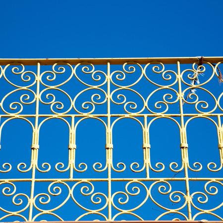 baranda para balcon: abstract terrace in morocco africa and the sky Foto de archivo