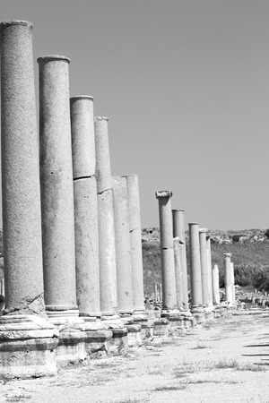Roman temple: old construction in asia turkey the column  and the roman temple