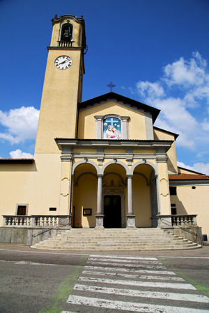 church bell: zebra crossing church albizzate varese italy the old wall terrace church bell tower
