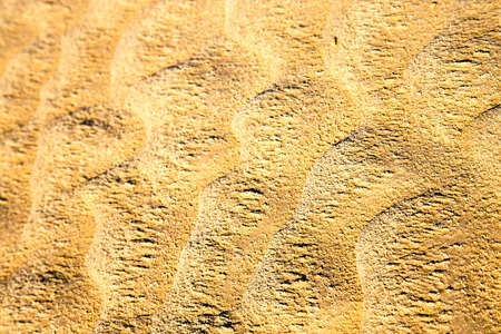 brown dry sand in sahara desert morocco africa erosion and abstract Stock Photo