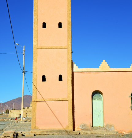 maroc: muslim the history  symbol  in morocco  africa  minaret religion and  blue    sky