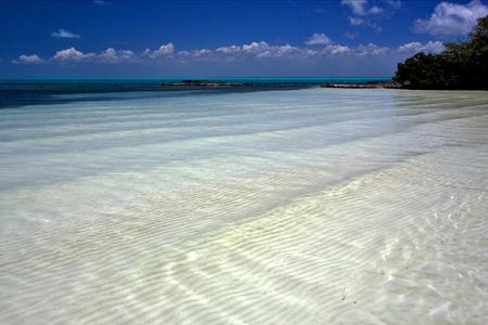 blue lagoon: tropical lagoon hill navigable  froth cloudy  relax and coastline in the caraibbien blue lagoon sian kaan mexico Stock Photo