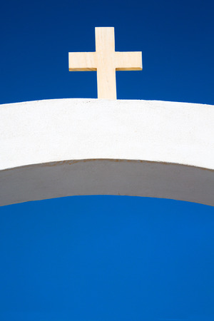 symbolism: in europe greece a cross     the cloudy sky