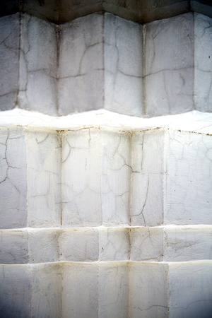 wat pho: thailand abstract cross white marble  in the temple bangkok Stock Photo