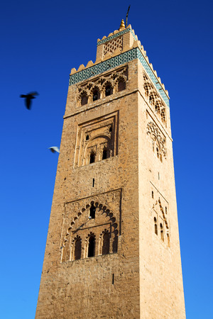 minaret: in maroc africa   minaret and the blue  sky