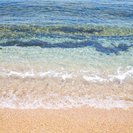 foam and froth in the sea       of mediterranean greece