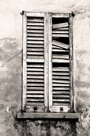 old doors: in europe italy milan old architecture and venetian blind wall