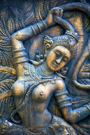 kho phangan bangkok thailand incision gods of earth in green Stock Photo