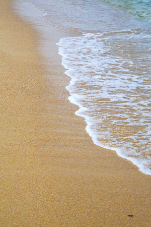 thailand kho tao bay abstract of a  wet sand and the beach in  south china sea Stock Photo